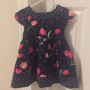 Gymboree Navy tulip dress